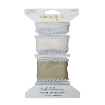 Grey Crocheted Edge Trim KDKB180