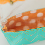 Close-up of Take a Peek! Zipper pouch, fully-lined