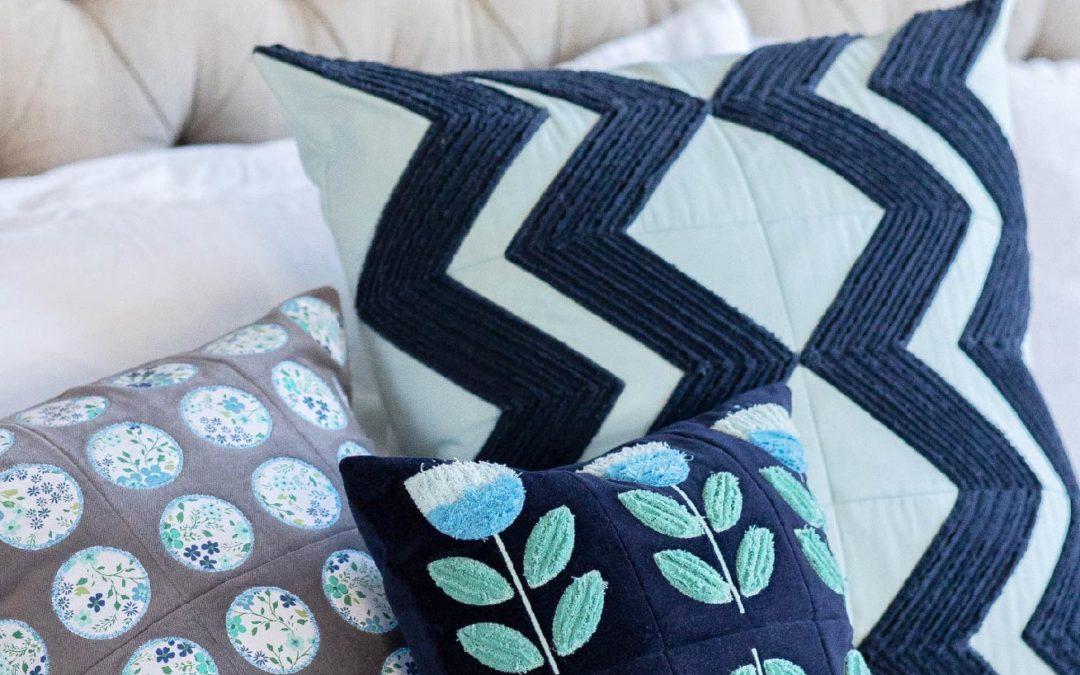 Annika's Throw Pillows for Machine Embroidery: Home Decor YOUR Way, Chenille OR Applique!