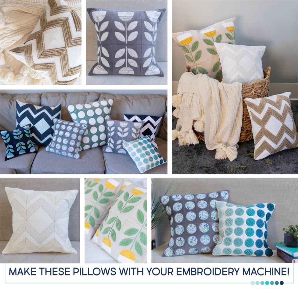 Kimberbell Annika/'s Throw Pillows Machine Embroidery CD