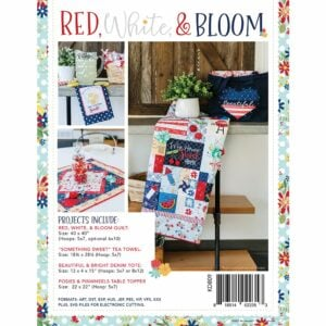 Red, White & Bloom, Machine Embroidery