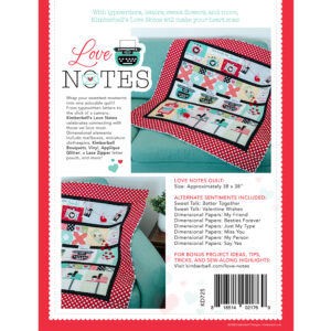 Love Notes, Sewing