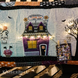 Twilight Boo-levard Bench Pillow, Machine Embroidery