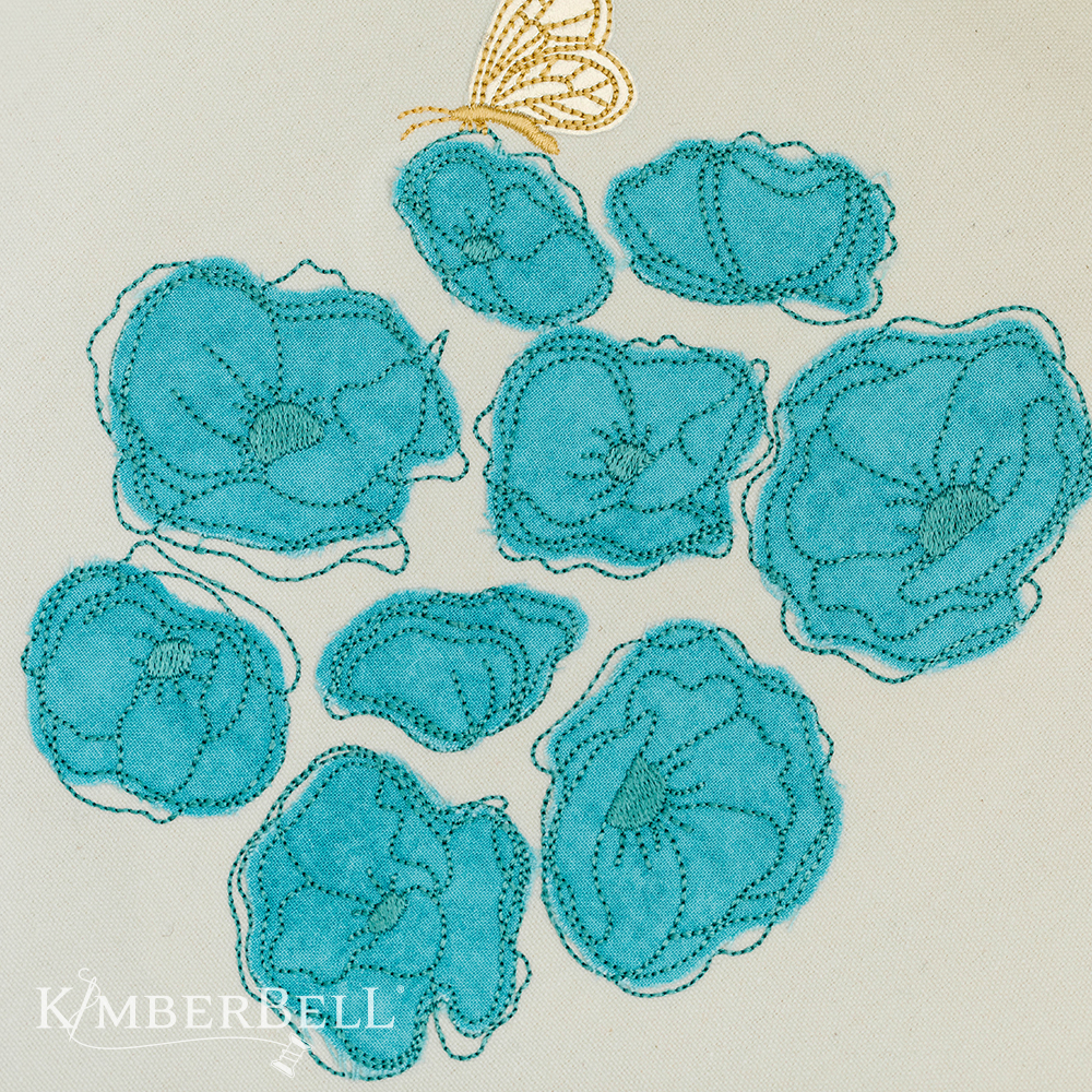 Blossoms and Butterflies Machine Embroidery Design