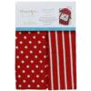 Dots & Stripes Tea Towels, Red