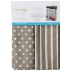 Dots & Stripes Tea Towels, Grey