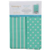 Dots & Stripes Tea Towels, Aqua