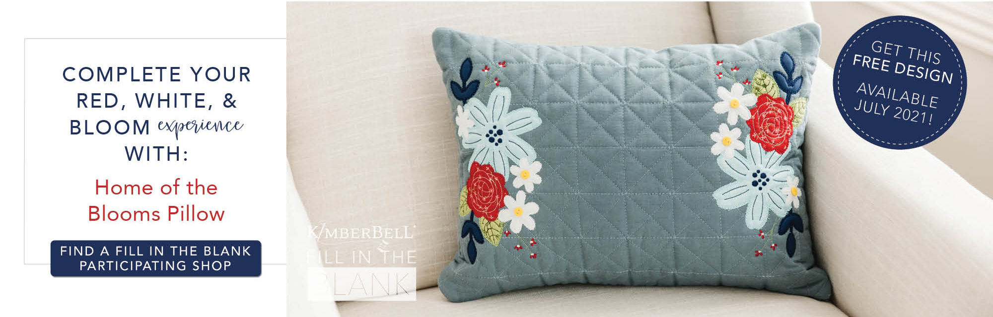 Main Street Celebration Bench Pillow Pattern Kim Machine Embroidery CD From Kimberbell -By Christopherson