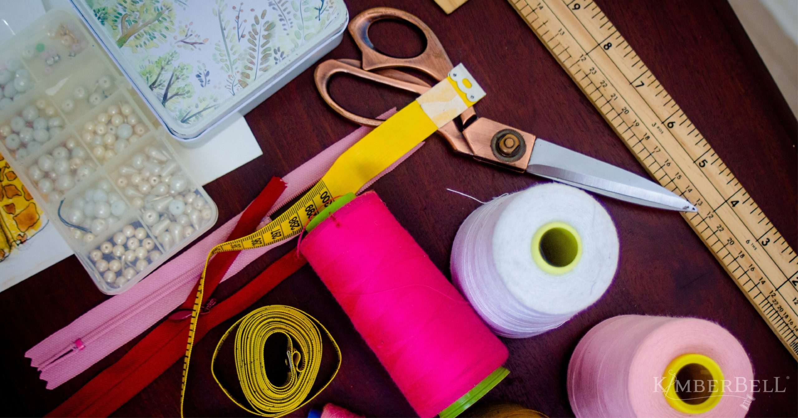 Sewing, crafting, and machine embroidery rooms organized on a budget