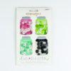 Cute As A Button: Pink, Lime Green, Aqua, Black