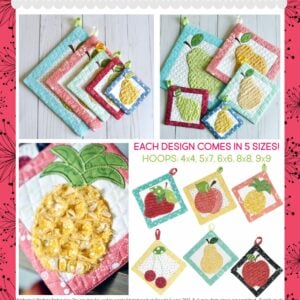 That's Sew Chenille: Fruit Stand Hot Pads,Machine Embroidery