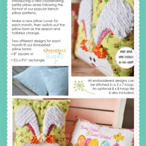 Bench Buddies: Jan, Feb, Mar, Apr, Machine Embroidery