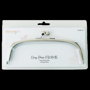 Clasp Purse Frame, Large Rectangle-Vintage Brass