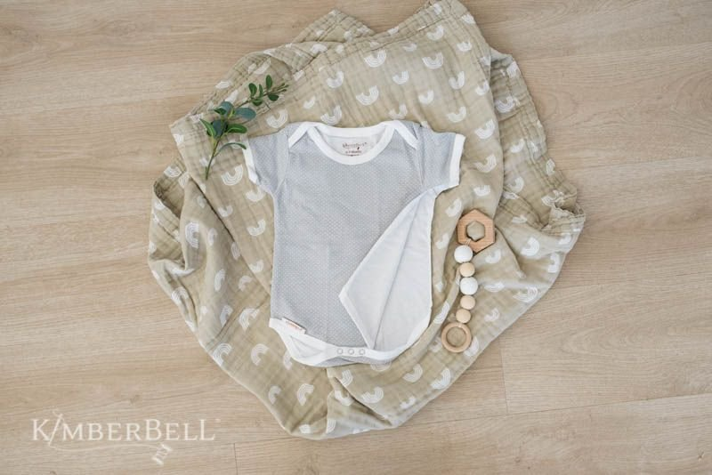 Baby bodysuits for sewing, machine embroidery, and iron-on transfers