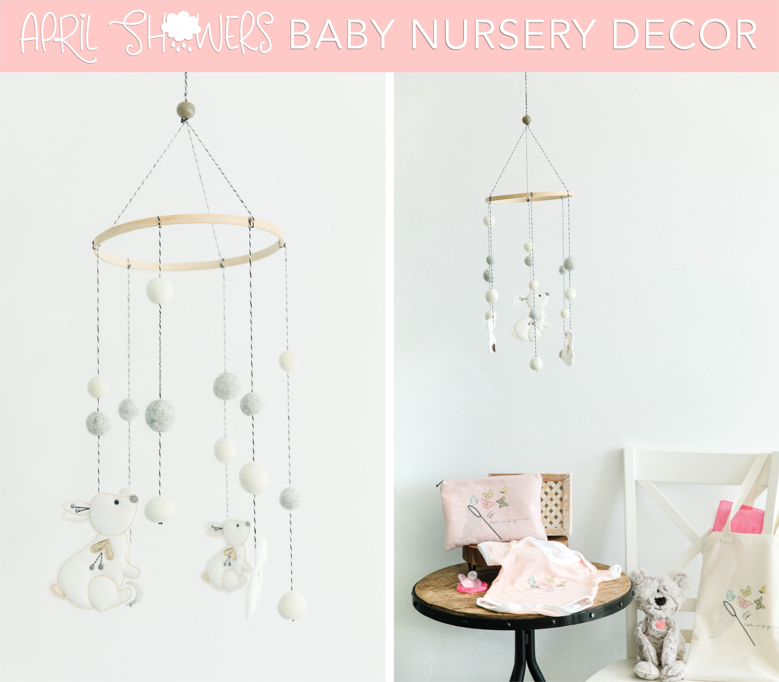Baby nursery decor for sewing and machine embroidery
