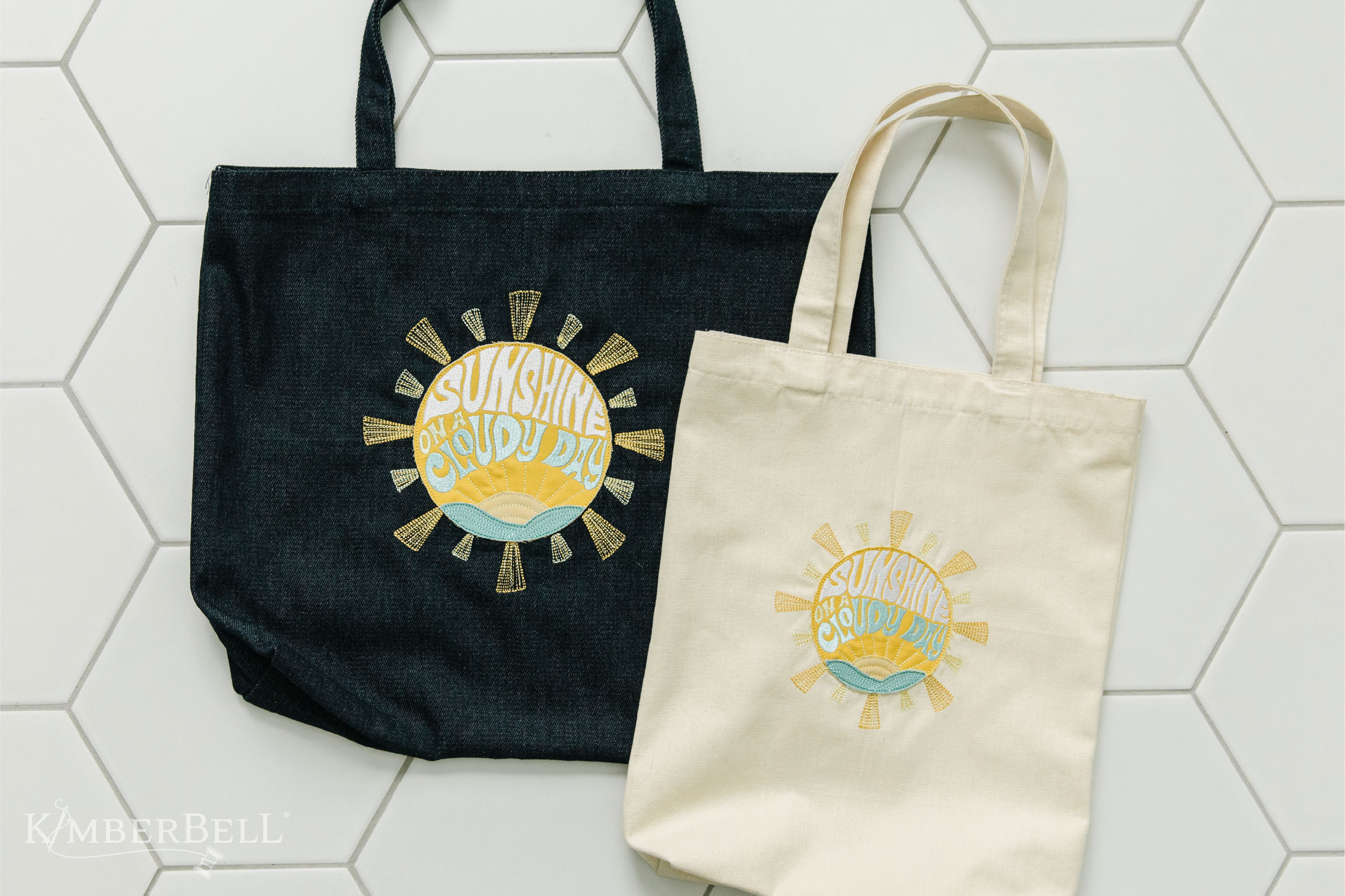 Kimberbell Tear-Away Machine Embroidery Stabilizer Totes