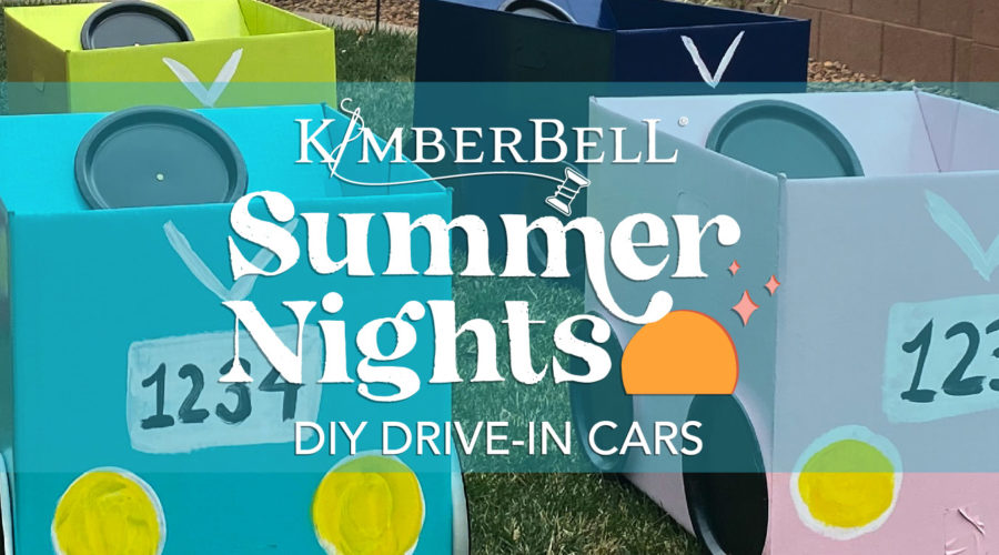 Summer Nights DIY Drive-In Cars (Inspired by Kimberbell's Summer Nights One-Day Machine Embroidery Event)!