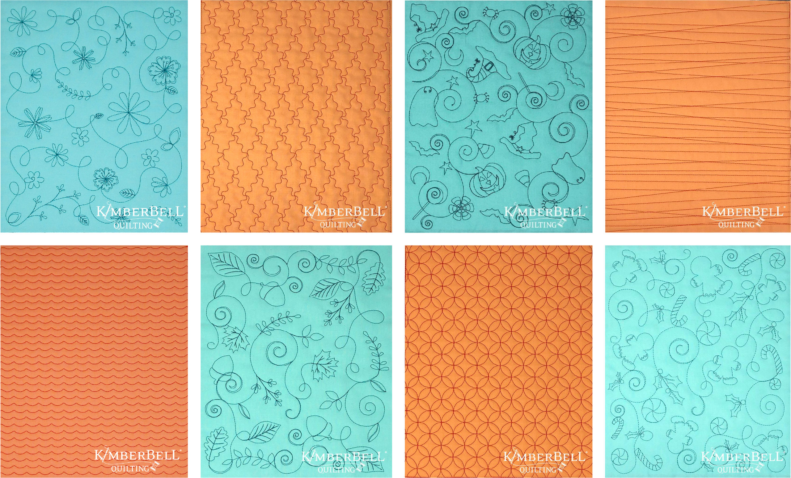 Downloadable designs for machine embroidery and other direct purchases on Kimberbell's website.