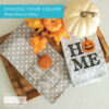 """Dots & Stripes Tea Towels, Set of 2, Pack of 25 w/free Design """"Welcome Home, Pumpkin!"""" - Grey"""