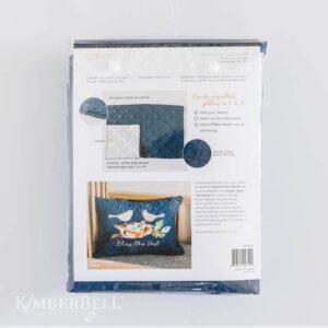 Quilted Pillow Cover Blank, Lumbar, Navy Linen