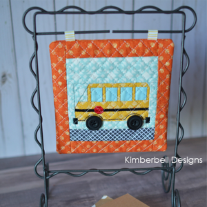 Machine Embroider by Number:  School Bus