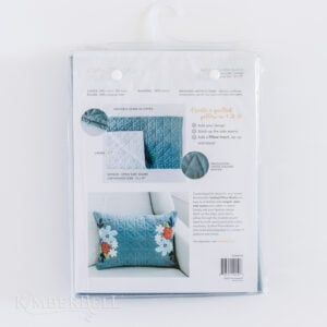 Quilted Pillow Cover Blank, 19 x 13″ Patriot Blue Linen