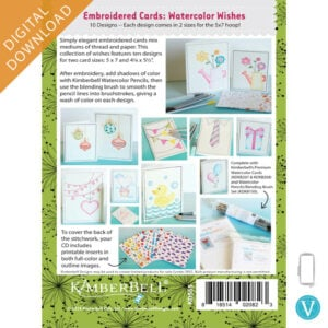 Embroidered Cards: Watercolor Wishes